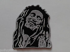 PUNK ROCK HEAVY METAL MUSIC SEW ON / IRON ON PATCH:- BOB MARLEY (c) CUT-OUT HEAD