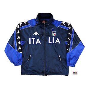 Italy 2000/01 International Soccer Tracksuit Rain Jacket Medium Kappa Vintage