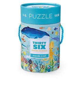36 Animal Puzzle 100 pc - Ocean Animals by Crocodile Creek 5+