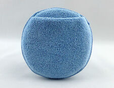 "Grande 6"" Redondo rellenos de espuma Sellador/Cera Microfibra Aplicador Almohadilla con bolsillo."