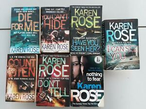 7x KAREN ROSE Books CRIME bundle, HAVE YOU SEEN HER, don't tell, COUNT TO TEN