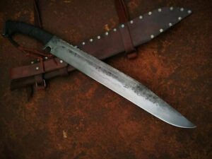 Handmade High quality Spring steel sword 26 inch with leather wrapped handle *