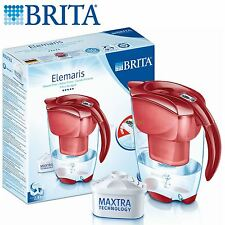 BRITA Elemaris Meter Cool 2.4L Home Water Filter Jug with Maxtra Cartridge - Red