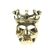 Skeleton King Ring Size 6 Undead Crown Skull Gold Tone Zombie Lord RH39 Cocktail