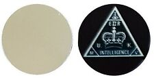 MI5 SECRET SERVICE METAL GOLF BALL MARKER DISC 25MM DIAMETER