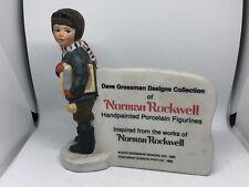 Rare Norman Rockwell Dave Grossman Design Figurine 1980 Saturday Evening Post