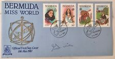 Signed 'Gina' first day cover Bermuda, Miss World 1980 Gina Swainson