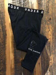 Under Armour Womens Fitted Black Full Length Leggings Yoga Pants Size Small
