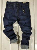 New Diesel Men's Jeans Buster 0860Z Regular Slim Tapered Stretch Blue Stonewash