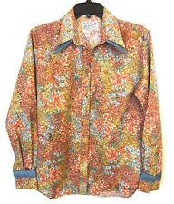 1970's RARE Rockmount Ranch Wear Double Collar Western Shirt Satin Pearl Snaps