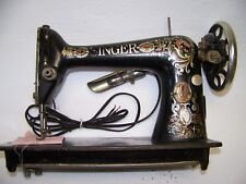 Vintage Antique SINGER SEWING MACHINE Treadle RED EYE 1917