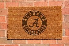 Alabama Laser Engraved Welcome Mat, 100% Natural Coir Fiber