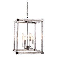 Elegant Lighting Cristal Pendant Lamp L-18 W-18 H-25 Lt-6 Polished Nickel NEW