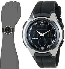 Casio AQ-160W-1 Men's Watch Analog Digital Black World Time Active Dial New