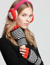 Kate Spade New York Spade Earmuffs Red Pink Big Apple PSRU0897 NWT $88 AUTHENTIC