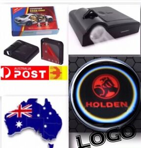2 pc Wireless Magnetic Courtesy Car Door Logo Light Projector Shadow For HOLDEN