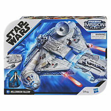 More details for official star wars han solo millennium falcon 6cm figure and vehicle toy, hasbro