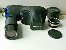 Rare Find Konica Original Autoreflex T with Hexon 57 mm f 1:1.4 lens, etc.