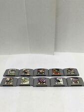 Lot of 10 Nintendo 64 Video Games-Not Tested