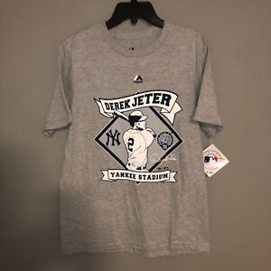 Majestic Derek Jeter Youth L 14/16 NY Yankees Signature T Shirt  NWT
