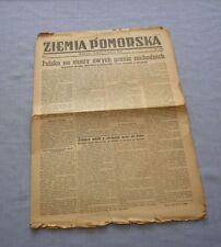 Czasopismo Ziemia Pomorska nr 123 z 1945 / Bydgoszcz, Old Polish newspaper
