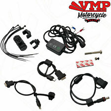 Universal Motorcycle Mobile Phone USB Charger Kit Wiring Loom Apple Android