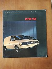 1985 Chevy Trucks Astro Van Sales Brochure - 13 Pages - Chevrolet