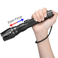 Super Bright 90000LM  T6 Tactical Military LED Flashlight Torch Zoomable 18650