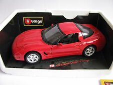 1:18 BURAGO CHEVROLET Corvette 1997 Boxed scale model voiture Bburago pas 1:24 1:25