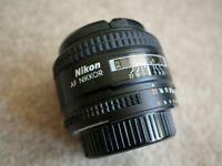 Nikon AF NIKKOR 35mm f/2D with hood and UV filter excellent condition Full Frame