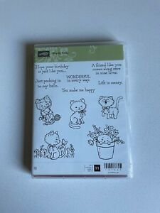 Stampin Up Pretty Kitty 11 Piece Rubber Stamp Set 141866