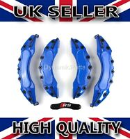 BRAKE CALIPER COVERS SET KIT FRONT AND REAR FOR AUDI A3 A4 A5 BLUE ABS