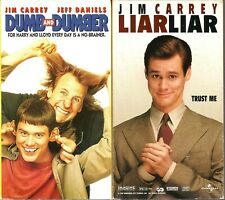 Dumb And Dumber VHS 1995 & Liar Liar 1997 Lot of 2 Tapes Jim Carrey Jeff Daniels