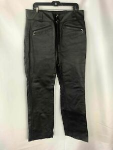 Harley-Davidson Black Leather Pants - Size 36 Men's