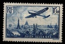 AVION Bleu Survolant Paris, Neuf ** = Cote 30 € / Lot Timbre France P.A 9