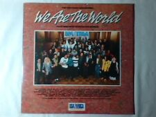 LP We are the world USA FOR AFRICA BRUCE SPRINGSTEEN PRINCE CHICAGO HUEY LEWIS