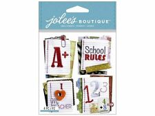 Jolee's Boutique 3D Stickers - STITCHED NOTEBOOK PAPER WORDS - School note pad