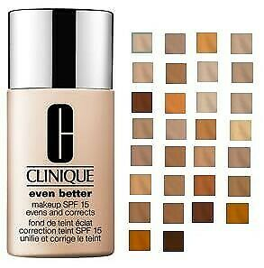 Clinique Even Better Foundation/Makeup SPF 15 - Unboxed- Choose Shade-Unsealed