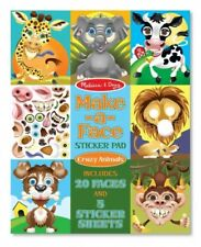 Make-a-Face Sticker Pad - Crazy Animals, Toy by Melissa & Doug, LLC (COR)