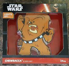 STAR WARS MINI 3D ART CHEWBACCA CORDLESS LED WALL NIGHT LIGHT #smar17-33