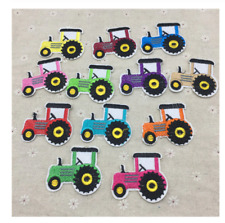 NEW! Iron on patches Tractors children's Patches 12 Colours