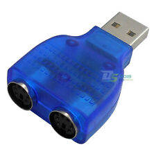 Mini USB 2.0/1.1 to Dual PS2 PS/2 Adapter Converter for Mouse Keyboard Scanner