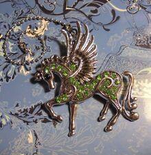 XLarge Fairy Horse Rhinestone Ceiling Fan Pull~Hook on Chain/Lamp/Auto/Wall