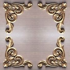 Antique Gold Large Shabby Chic Furniture Corners X 4 Resin Appliques Mouldings