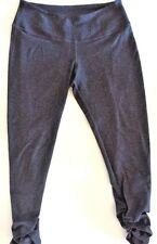 BEYOND YOGA Heathered Gray Crop Pants w Shirred Ankle size S Gym Run Spin Dance