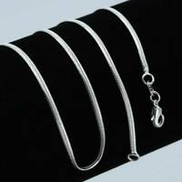 Fashion 925 Silver Necklace 2mm Snake Chain 16-30inch Jewelry for Men Women