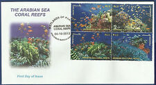 PAKISTAN MNH 2012 FDC WETLANDS ARABIAN SEA CORAL REEFS WATER FISH FISHES ANIMAL