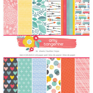 American Craft Oh Happy Life Collection Paper Pad 6 X 6
