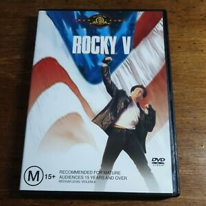 Rocky 5 V DVD R4 LIKE NEW FREE POST