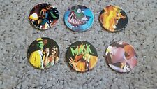 Set of 6 new line productions pro caps The mask caps like pogs brand new 1994